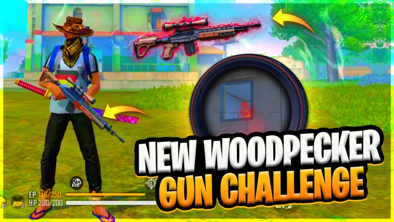 NEW WOODPECKER GUN CHALLENGE || FREE FIRE || DESI GAMERS