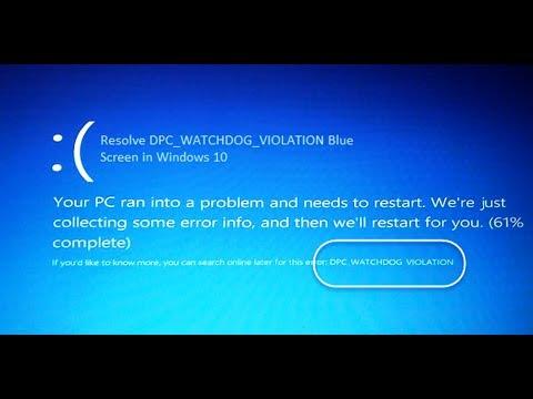 driver pnp watchdog windows 10 blue screen
