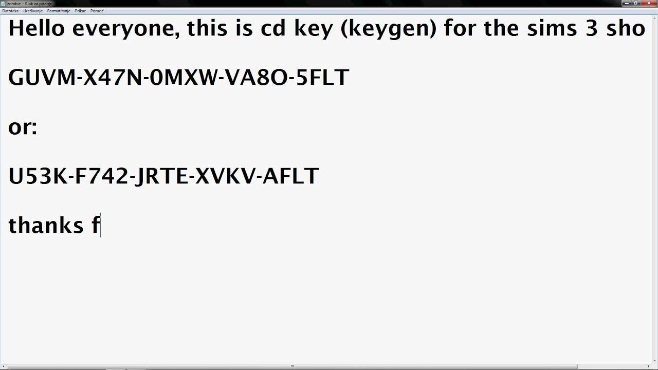 serial code for sims 3 university life