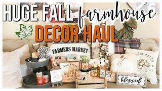 HUGE FARMHOUSE FALL DECOR HAUL 2018 | KIRKLANDS, HOBBY LOBBY, BATH & BODY WORKS