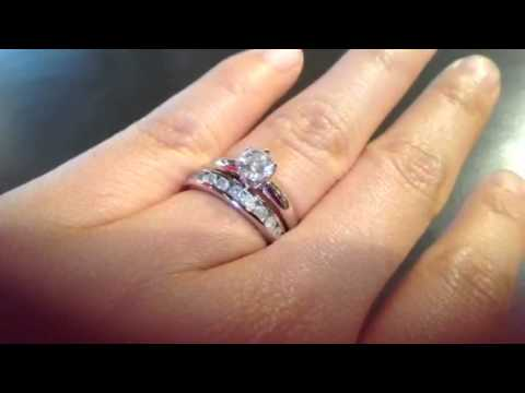 My 0 5 Ct Diamond Engagement Ring And 0 5 Ct Total Diamond Youtube