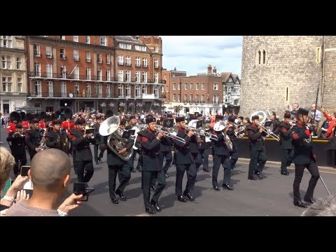 Changing the Guard at Windsor Castle - Saturday the 16th of June 2018