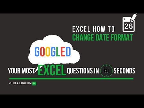 How to change US dates to European dates in excel from YouTube · Duration:  2 minutes 43 seconds