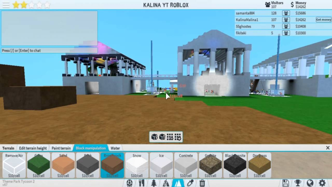 Building new theme in ROBLOX: HOW TO BUILD SHIP - part 1 - THEME PARK  TYCOON 2