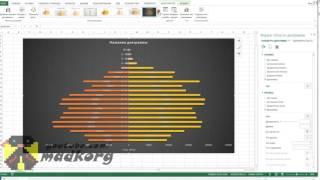 Как построить половозрастную пирамиду в Excel
