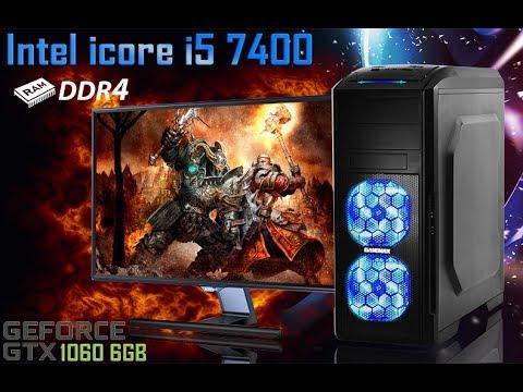 intel core i5 7400 + GTX 1060 6GB GTA V DOOM BF1 Witcher 3 1080p Ultra  (ZEVS PC 13200U)