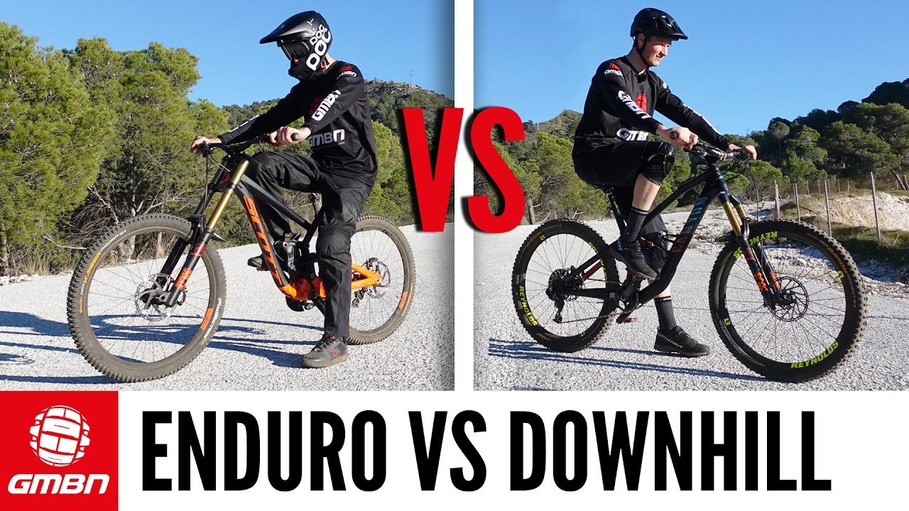 Spiksplinternieuw Enduro Vs Downhill Mountain Bike Race | Which Is Faster? - YouTube XU-91