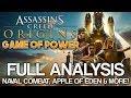 Assassin s Creed Origins Game of Power TRAILER ANALYSIS Apple of Eden, Naval Combat MORE