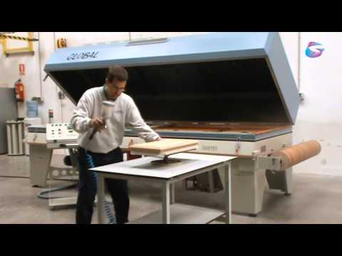 Vacuum Press for veneering, laminating, bending wood, 3D foil / film and thermoforming