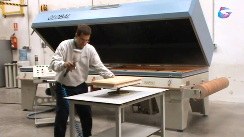 Vacuum Press for veneering, laminating, bending wood, 3D foil / film and  thermoforming - YouTube
