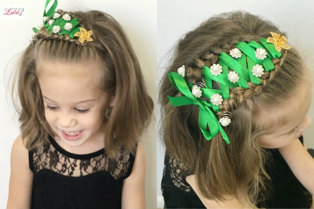 Accent Sideways Christmas Tree Braid Short Or Long