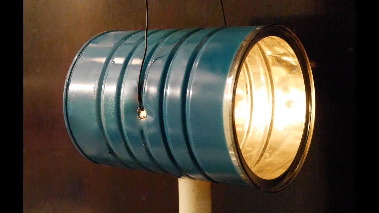 Diy coffee can redneck flashlight or homemade lantern for Homemade lantern lights