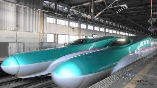 東北新幹線 迫力の高速通過映像集 水沢江刺駅 E5・H5・E6近距離疾走 High speed passing through of Shinkansen
