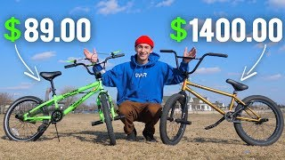 80 WALMART BMX BIKE VS 1400 BMX BIKE (WHAT39;S THE DIFFERENCE?)