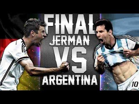 Jerman Vs Argentina Final Prediksi Piala Dunia 2014 Youtube