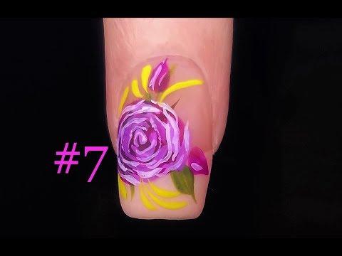 Rose Nail Art Technique for Beginners. Nail Design #7 FULL Tutorial thumbnail