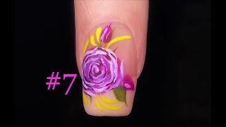 Rose Nail Art Technique for Beginners. Nail Design #7 FULL Tutorial