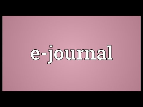 E-journal Meaning