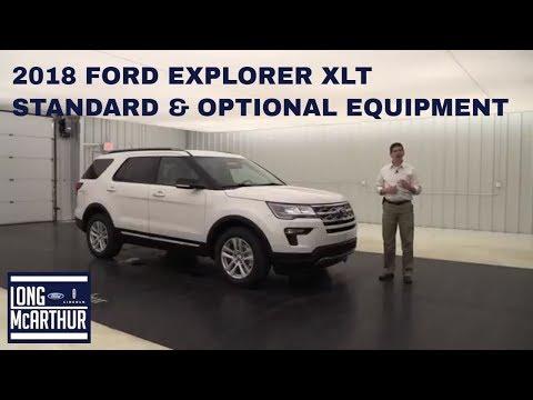 2018 FORD EXPLORER XLT OVERVIEW STANDARD & OPTIONAL EQUIPMENT
