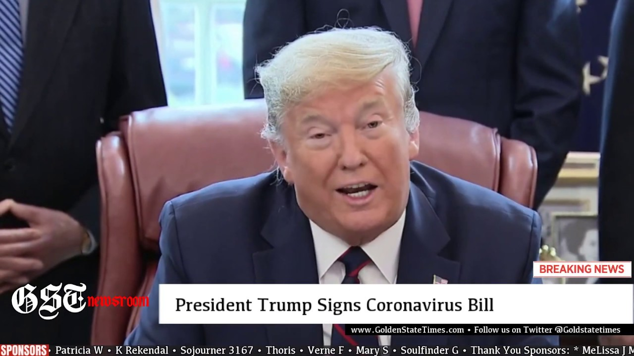 BREAKING: President Trump SIGNS $2 TRILLION CARES ACT Bill at the Oval Office