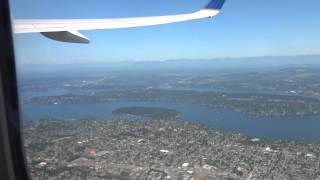 United Airlines takeoff from SeaTac Seattle International Airport 2015