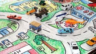 Игра в Дорожное Движение / Как нарисовать настольную игру для детей / Урок рисования