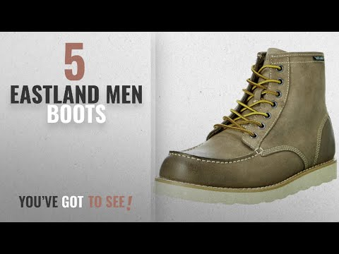 Top 10 Eastland Men Boots [ Winter 2018 ]: Eastland Mens Lumber Up Lace Up Boot,Gray,12 D US