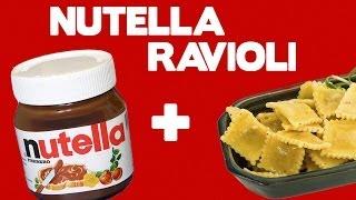 Nutella Ravioli - Food Mashups