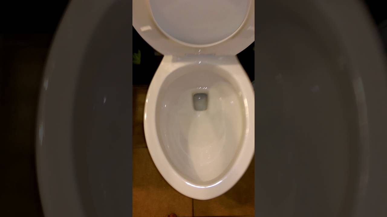 2016 aquasource Lowe\'s toilet elongated flushes - YouTube