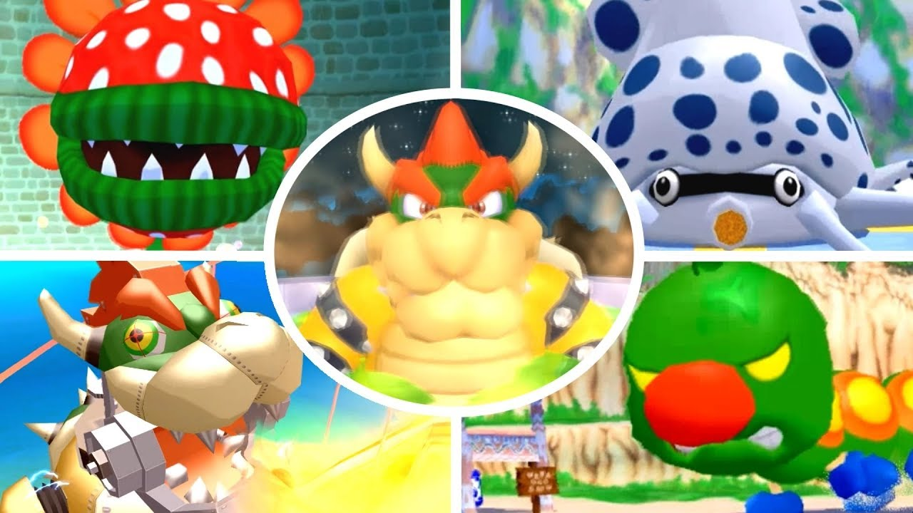 Super Mario Sunshine Hd All Bosses No Damage Youtube