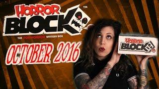 October Horror Block unboxing video!
