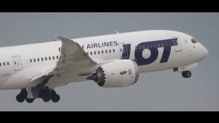 LOT Polish Airlines Boeing 787 Dreamliner Arrival / Takeoff at Chicago O
