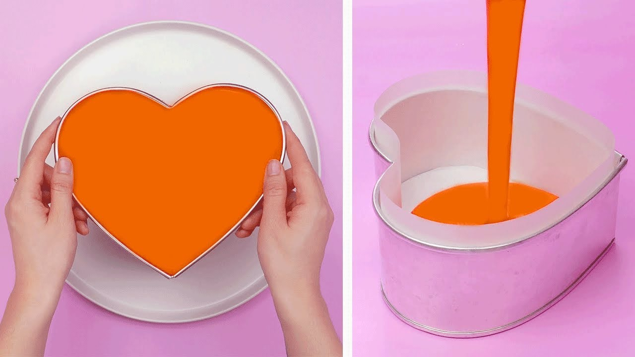 My Favorite Heart Cake Decorating Ideas | Creative Cake Decorating Tutorial | So Yummy Cake Recipe