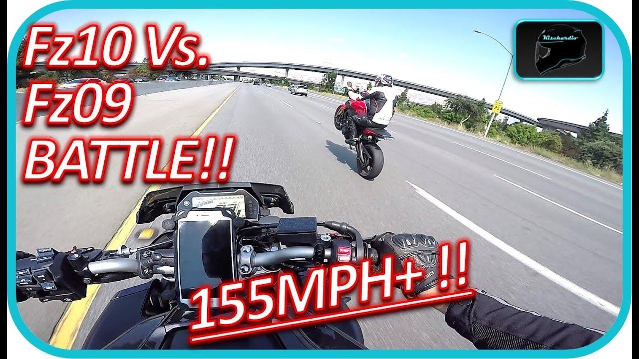 Fz09 Vs Fz10 Highway Race Fz10 Top Speed
