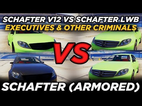 Schafter V12 vs Schafter LWB vs Schafter (Armored) (GTAV Executives & Other Criminals Update)