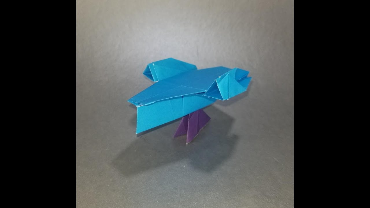 How to fold Origami Tri-Fighter (Alexander) - YouTube   720x1280