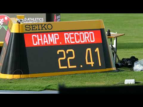 Christine Mboma (NAM) 200 m  22.41 C. RECORD! World Athletics U20 Championships Nairobi Kenya 2021