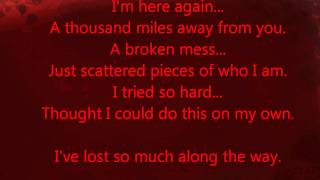 RED - Pieces (with lyrics) HQ