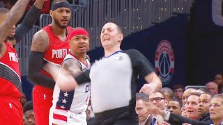 Isaiah Thomas Touches Referee & Gets Ejected Minutes Into The Game! Trail Blazers vs Wizards thumbnail