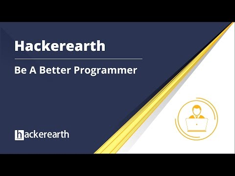 HackerEarth   Be a better programmer   Code.Build.Hack