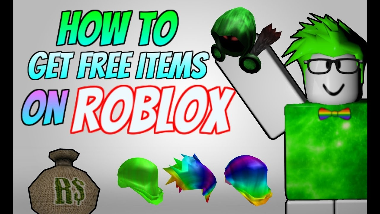 how to get items for free in roblox