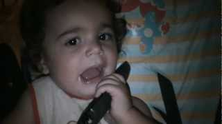 Sandro speaking on phone 15 months age