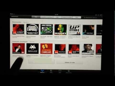 Podcast - L'application iPad/iPhone pour regarder et s'abonner aux podcasts iTunes