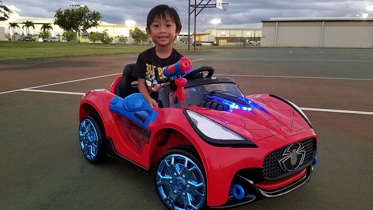 Spider Man Super Car 6 Volt Battery Powered Ride On Youtube