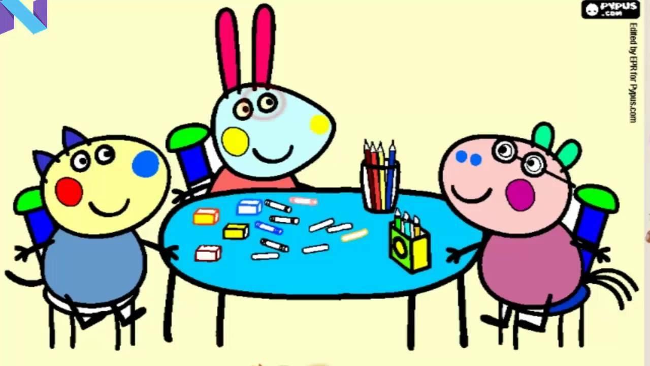 Peppa Pig Amigo Peppa Pig Da Tabela Com Lapis Para Colorir