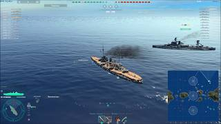 World of Warships Линкор Нассау