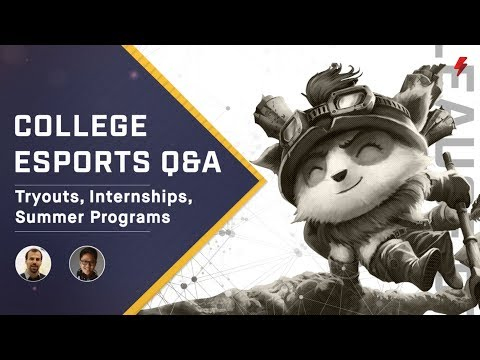 How do college esports tryouts, teams, and internships work?