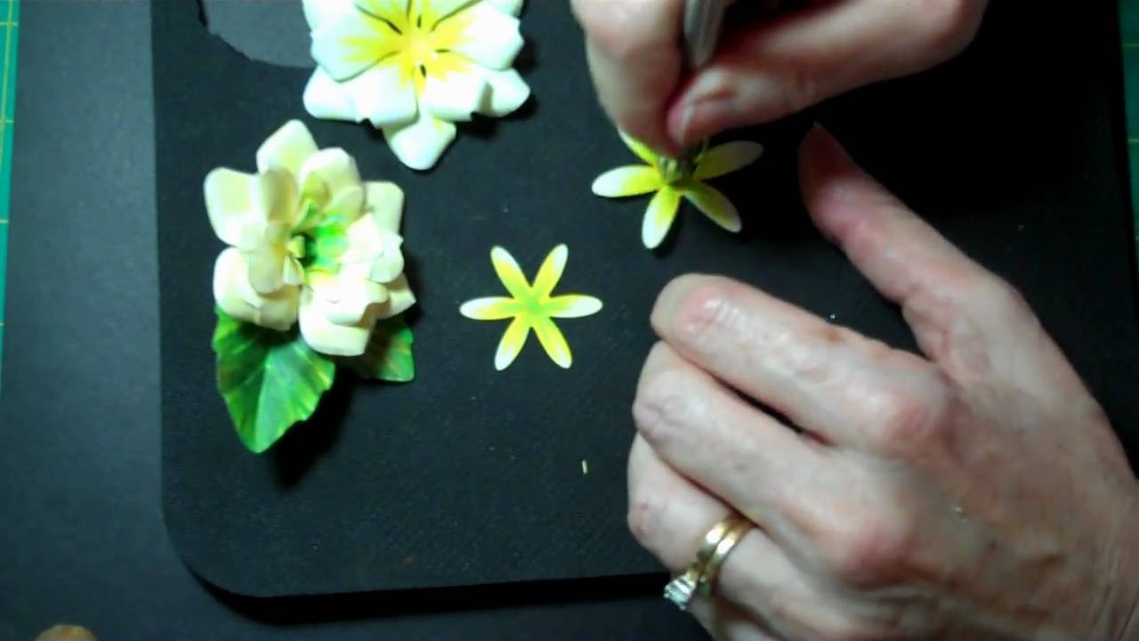 Sculpting Paper Flowers Gardenia Youtube