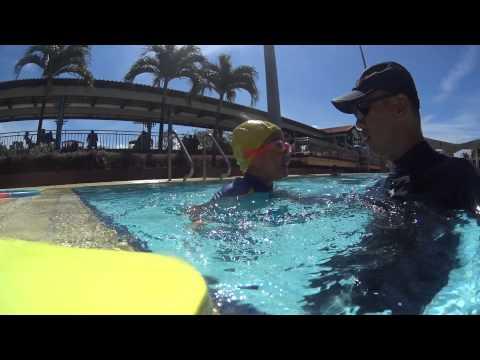 how to teach child to swim steps