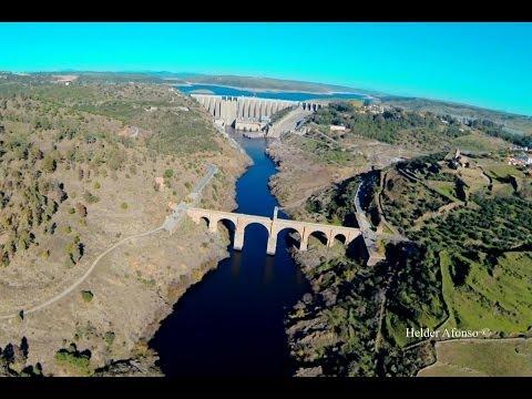 Alcántara Roman Bridge over Tagus river flight - Cáceres - Spain